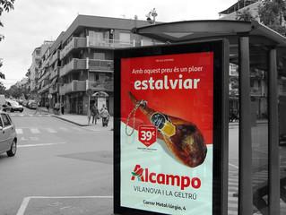 @Alcampo continua amb el circuit de mupis de @Publicom