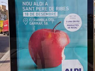 Nova obertura d'Aldi del seu nou centre comercial a Sant Pere de Ribes.