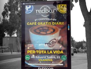Red Bar continua la seva campanya de cafè gratis per tota la vida.