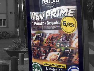 RedBar i el seu Menú Prime dins el circuit comarcal de mupis de Publicom.