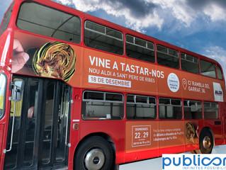 Acció de Marketing espectacular amb el Bus Britànic per Aldi Sant Pere de Ribes.