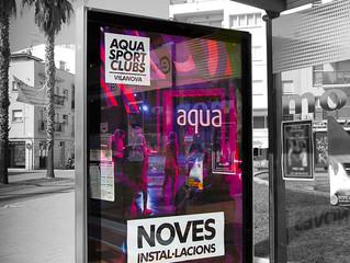 Aqua Sport Clubs dins el circuit de mupis de Publicom.