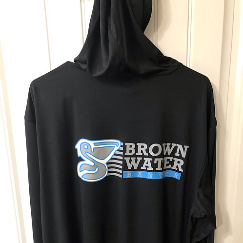 Brown Water Banter Long Sleeve Dry Fit HoodieT-Shirt