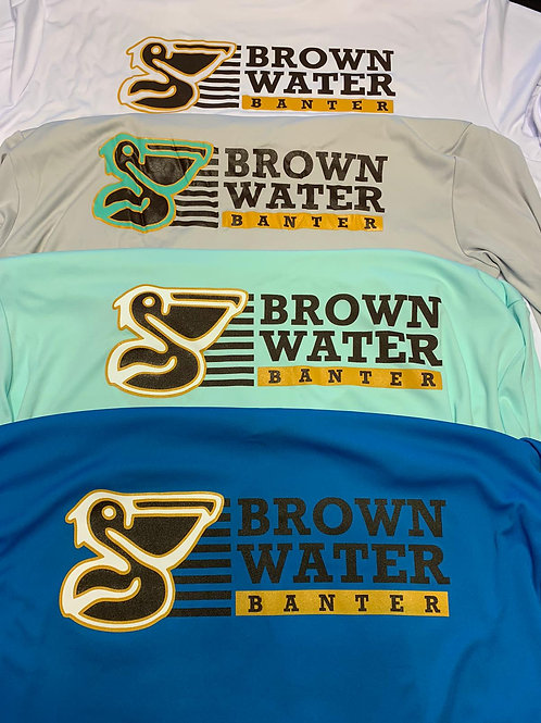 Brown Water Banter Long Sleeve Dry Fit T-Shirt