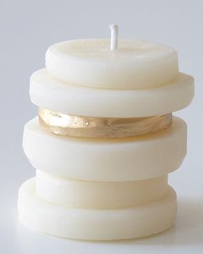 Bougies de voyages soya wax white & gold
