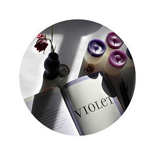bougies violettes Colortop collection