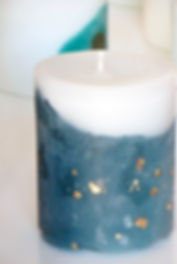 artistic candles blue & gold