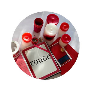 bougies rouges Colortop collection