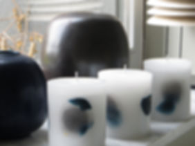 artistic candles blue black