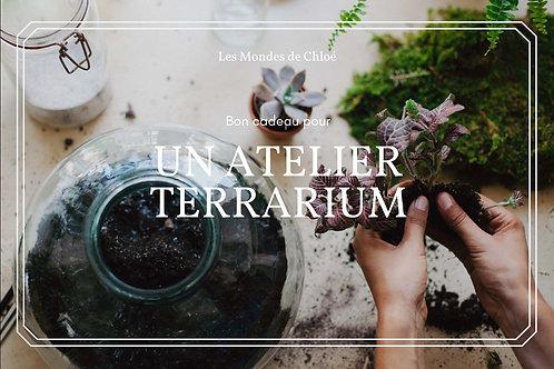 Bon cadeau pour un atelier terrarium