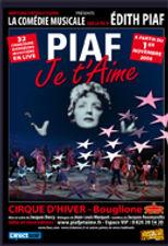 Anthony Fabien joué le rôle de Yves Montand et dans l'ensemble dans le spectacle musical Piaf Je t'aime