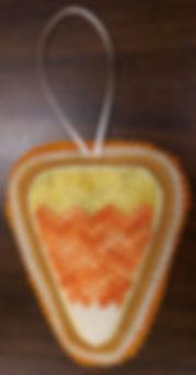Canvas Candy Corn Ornament