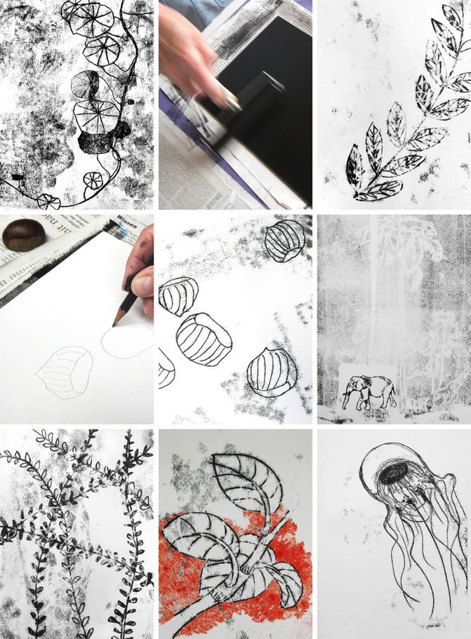 Zeichnungskurs: Monotypie