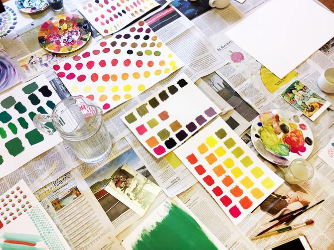 Zeichnungskurs: Es werde Farbe!