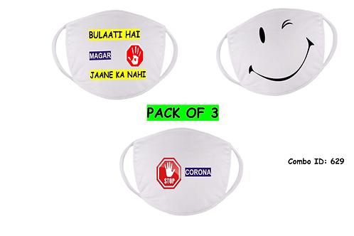 Custom Mask Set Of 3
