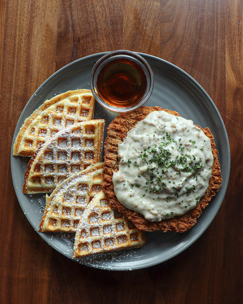 chicen fried steak and waffle.JPG