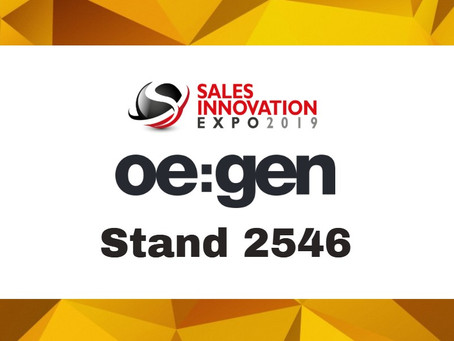 Sales Innovation Expo 2019: Come and see us at stand 2546!