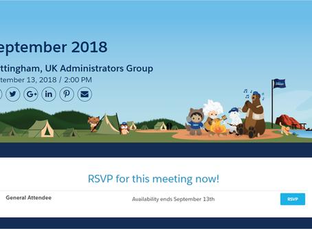 Event: Salesforce User Group   13th September '18