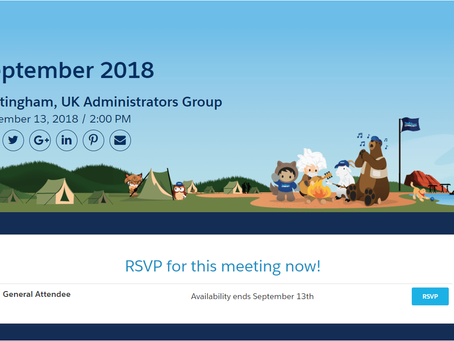 Event: Salesforce User Group | 13th September '18