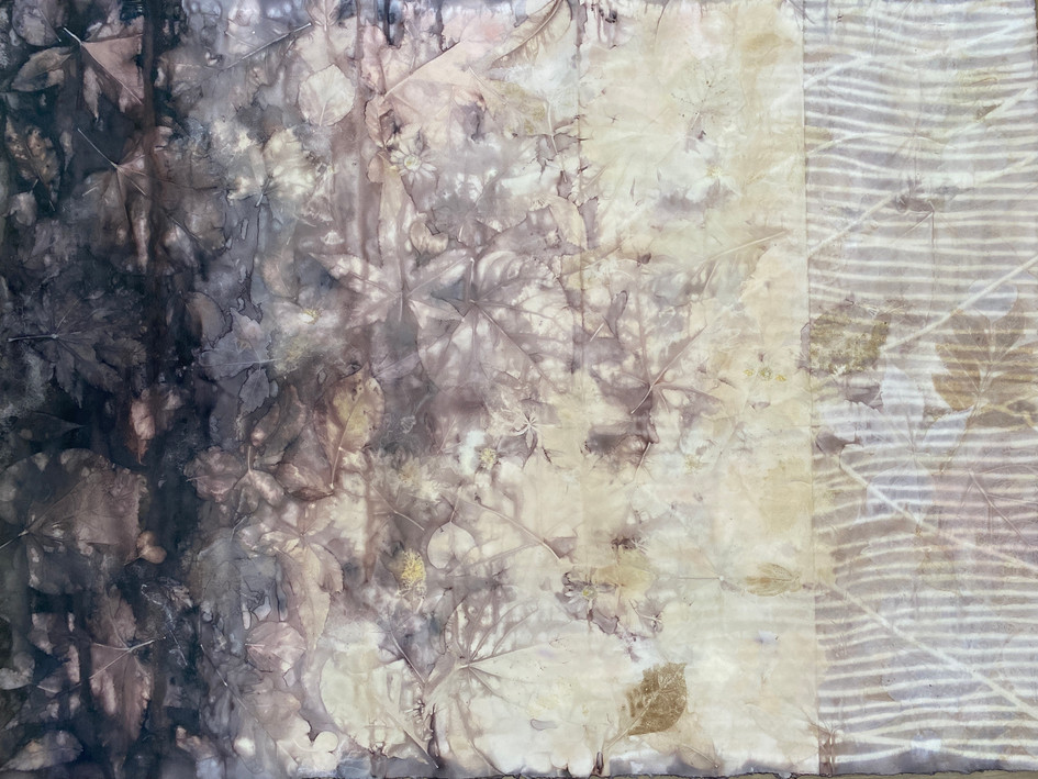 Eco Print on Watercolor Paper