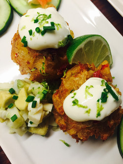 Crab Fritters with Jalapeño Aioli