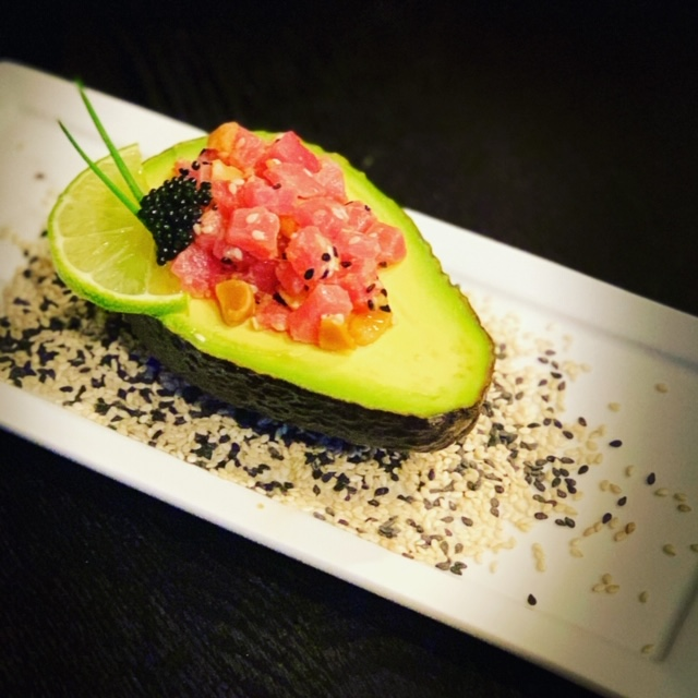 Tuna Poke Stuffed Avocado