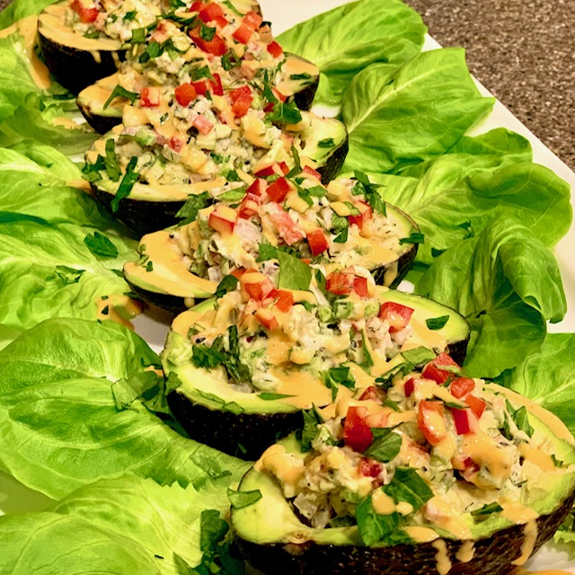 Shrimp Salad Stuffed Avocados