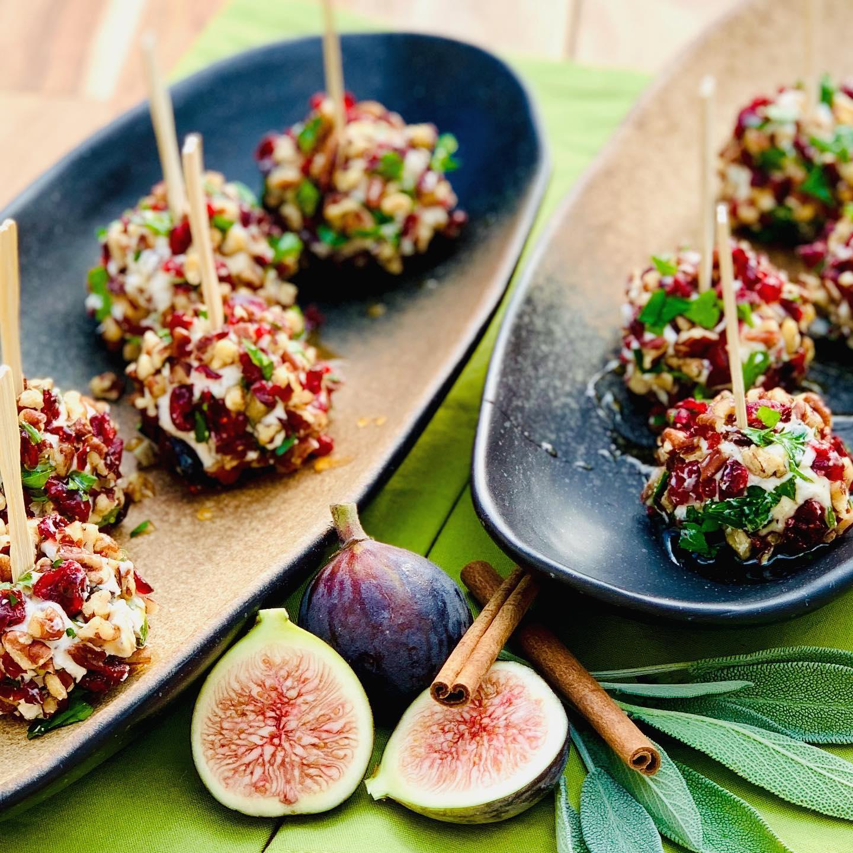 Pecan Fig Cranberry & Honey Chèvre Truffles