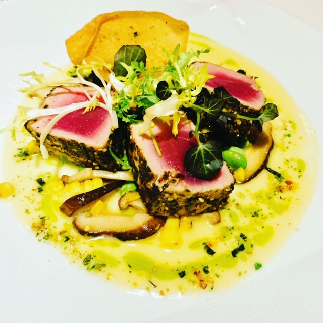 Seared Tuna with Lemongrass Buerre Blanc