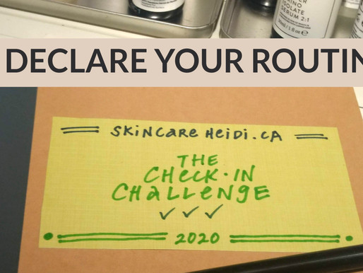 CHECK-IN CHALLENGE POST 2: DECLARE YOUR ROUTINE.