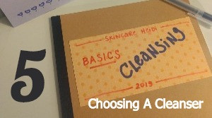 5. Cleansing: Choosing a Cleanser & the Different Types of Cleansers