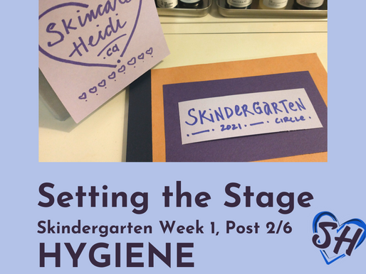 2. Setting the Stage: HYGIENE -  Wash Your Hands Before You Wash Your Face