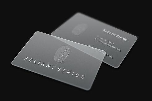 Translucent Business Cards MockUp White