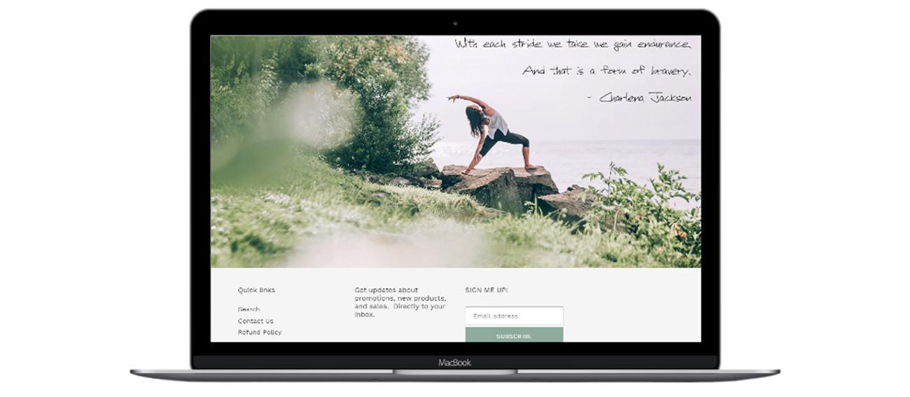 Reliant Stride Laptop Portfolio Mockup