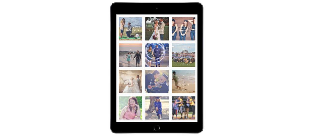Reflexions by Rachel iPad Portfolio Mockup