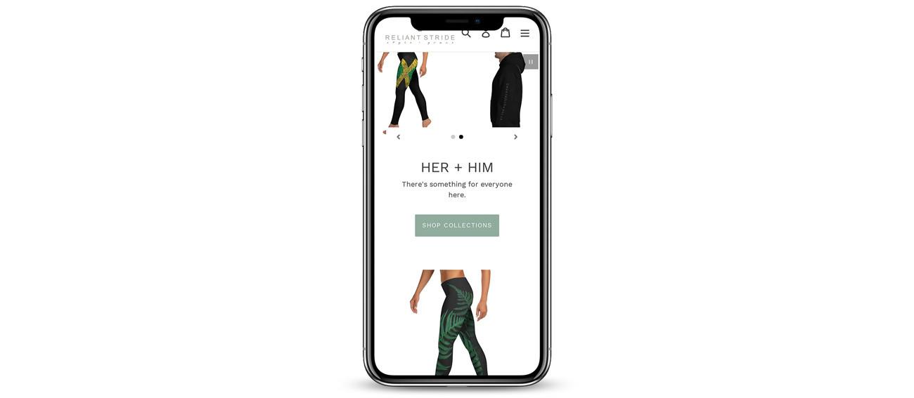 Reliant Stride iPhone Portfolio Mockup