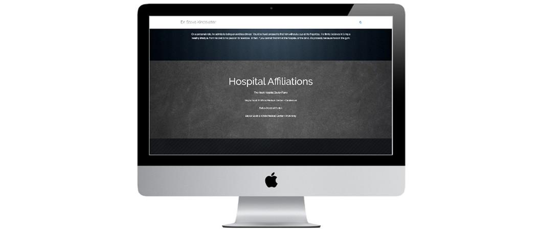 Dr. Steve Kindsvater Desktop Portfolio Mockup