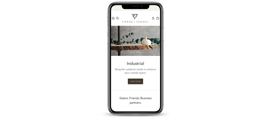 Forge + Vessel iPhone Portfolio Mockup