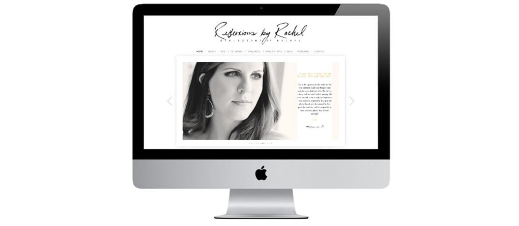 Reflexions by Rachel Desktop Portfolio Mockup