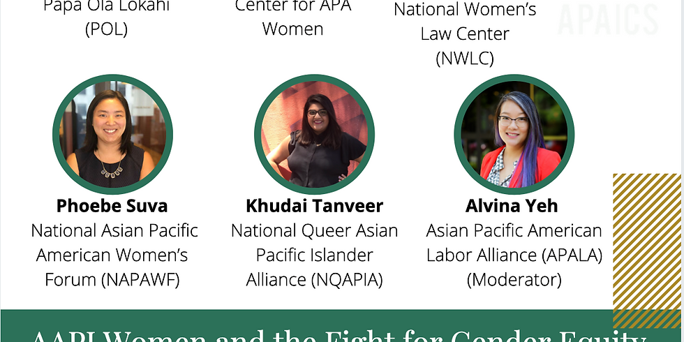 Legislative Leadership Series: AAPI Women and the Fight for Gender Equity