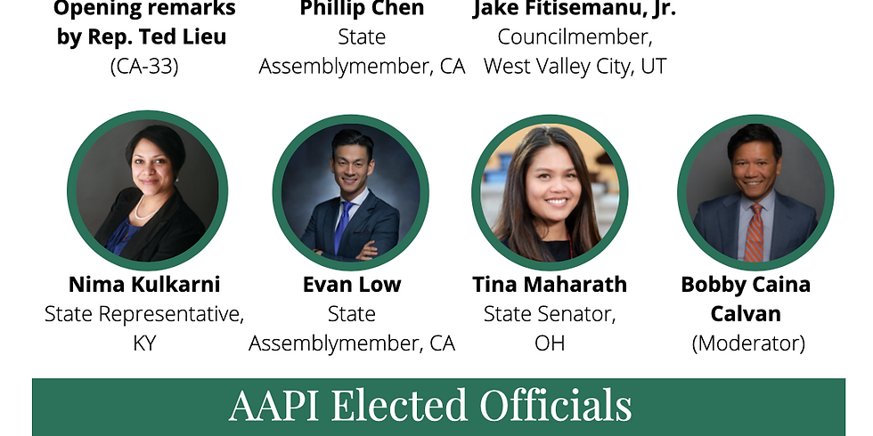 Legislative Leadership Series: AAPI Elected Officials