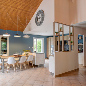 Vue d'ensemble espace cuisine