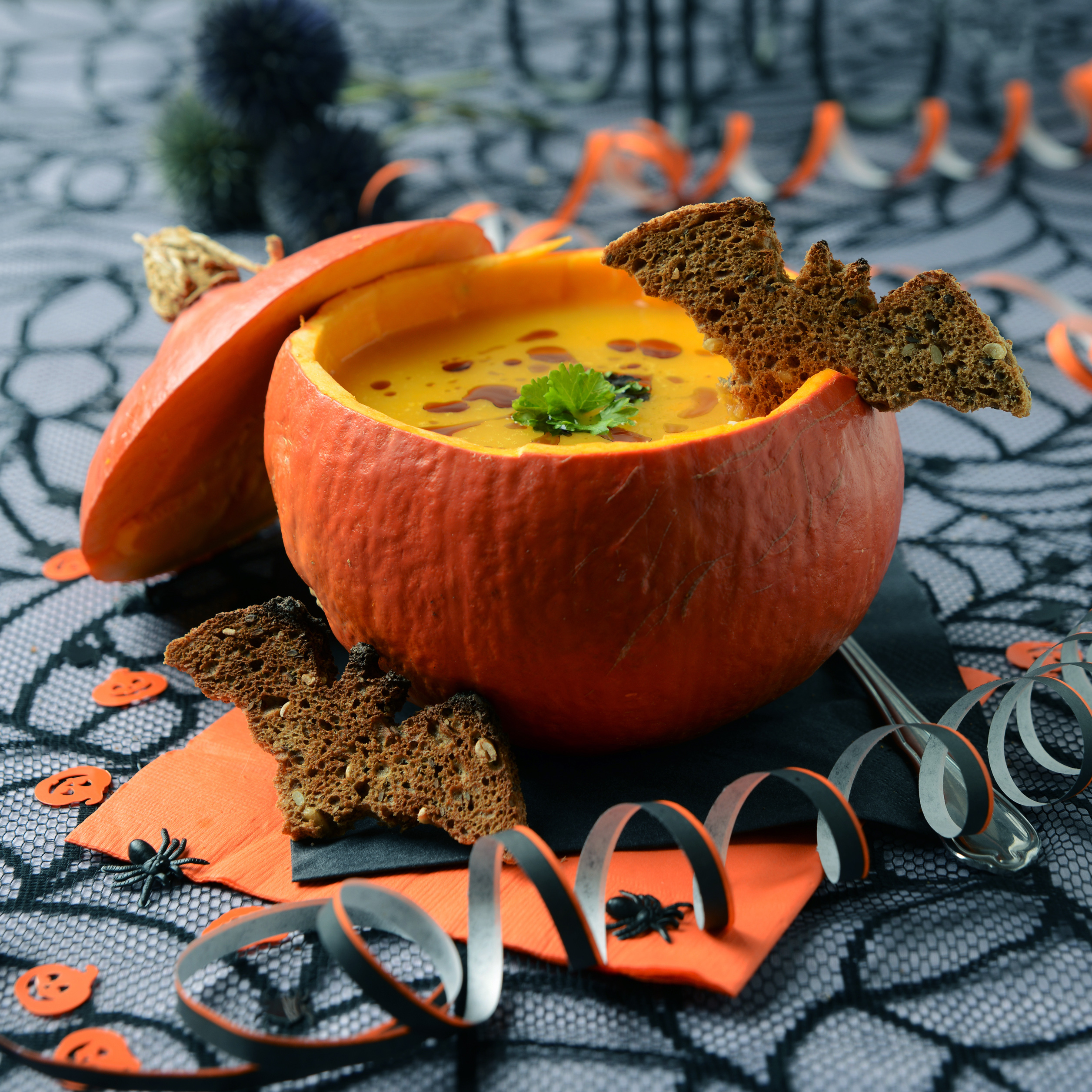 Calabaza de Halloween con Dip