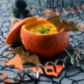 Halloween citrouille avec trempette