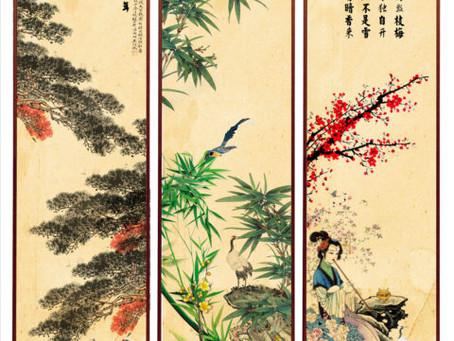 Le pin, les bambous et les pruniers en fleurs: Nouvel An lunaire!