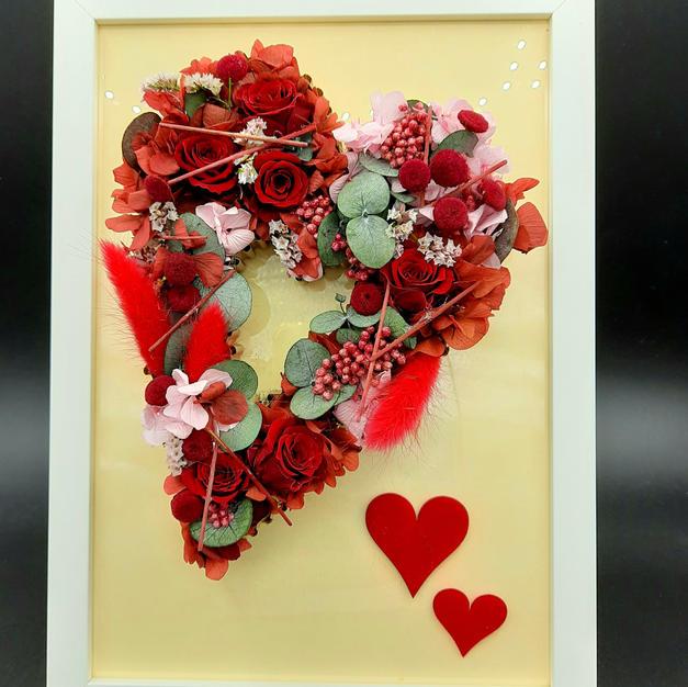 45€ Corazón preservado en marco