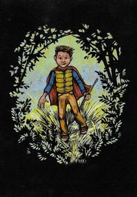 a boy on an adventure