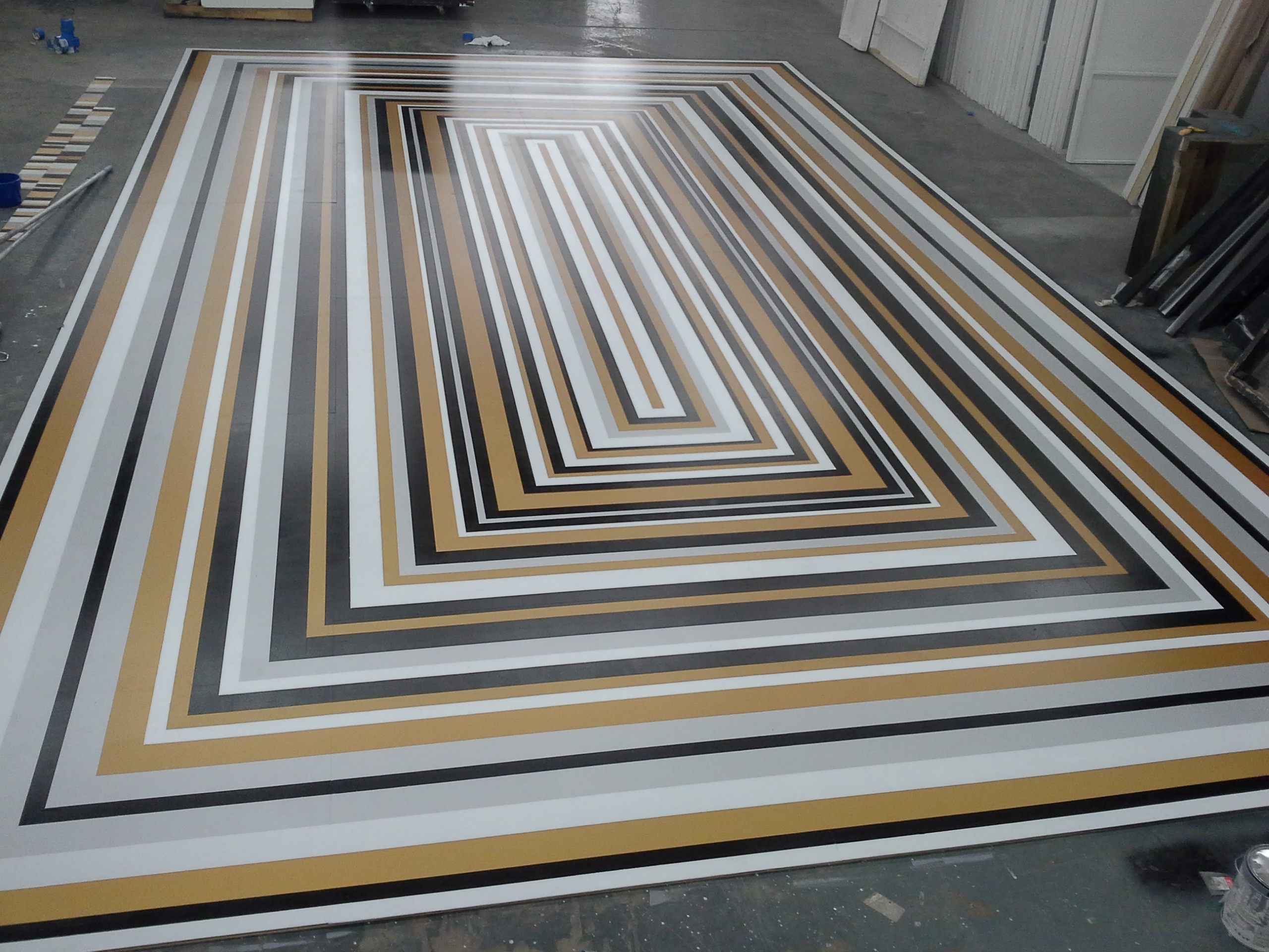 SBI striped dance floor