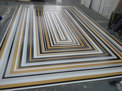 SBI striped dance floor