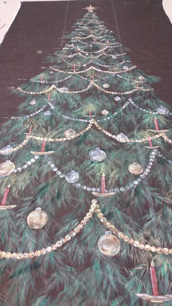 Nutcracker scrim Christmas Tree